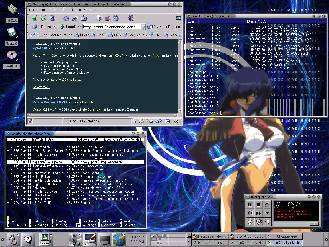 Work Desktop Screenshots